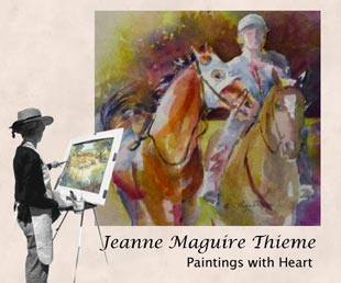 jeanne thieme at easel